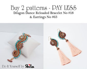 Buy MORE Pay LESS for Patterns of Dragon Dance Bracelet & Earrings No. 18, No. 63