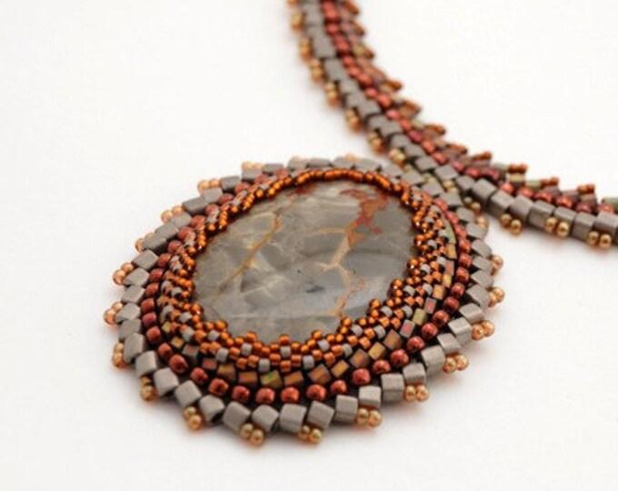 Beaded Jewellery - Thunder Jaspis Necklace
