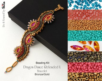 Beading Kit of Dragon Dance Reloaded I. Bracelet No. 18 Gold/Bronze