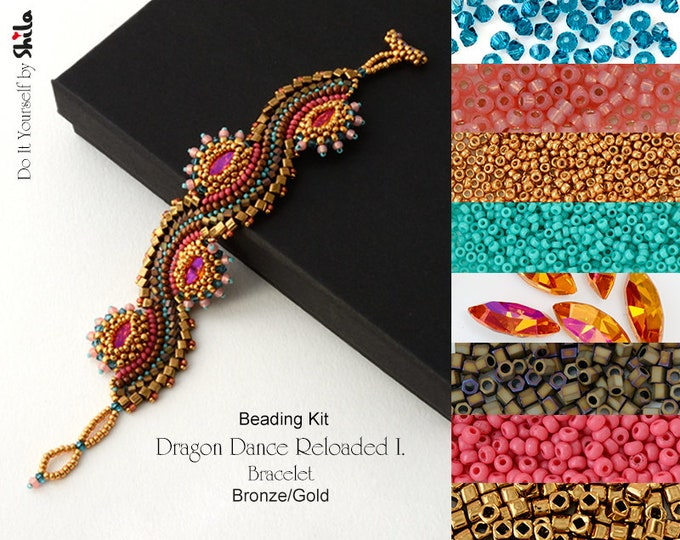 Beading Kit of Dragon Dance Reloaded I. Bracelet No. 18 Gold/Bronze