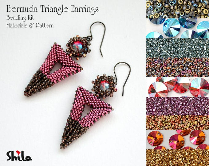 Bermuda Triangle Earrings beading Kit No. #51