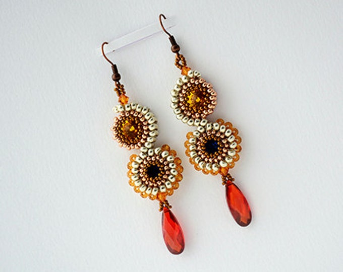 Staked Crystals Earrings