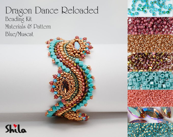 Dragon Dance Reloaded Beading Kit No.#18/Blue/Muscat