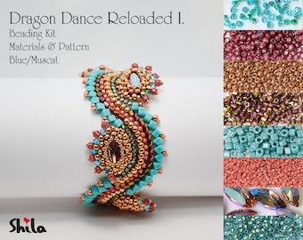 Dragon Dance Reloaded Beading Kit No.#18/Blue/Muscat