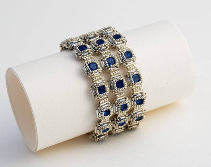 Beaded Jewellery - Sett of Capri Blue