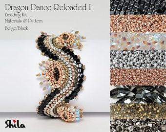 Dragon Dance Reloaded I. Beading Kit No #18 Black/Beige