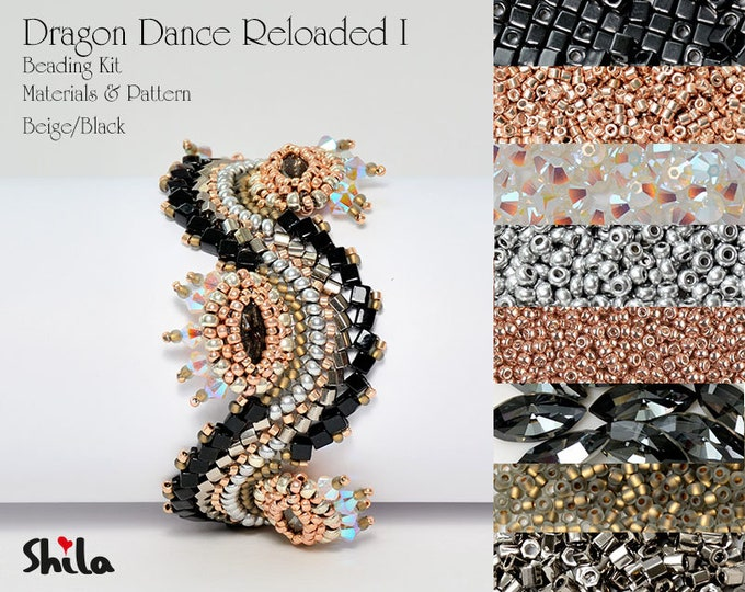 Dragon Dance Reloaded I. Beading Kit No #18 Black/Beige