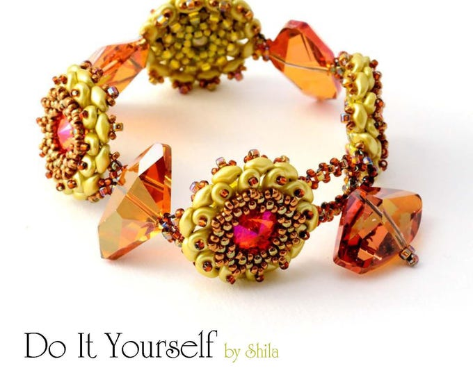Step by step INSTANT download Pdf beading PATTERN Bracelet #14