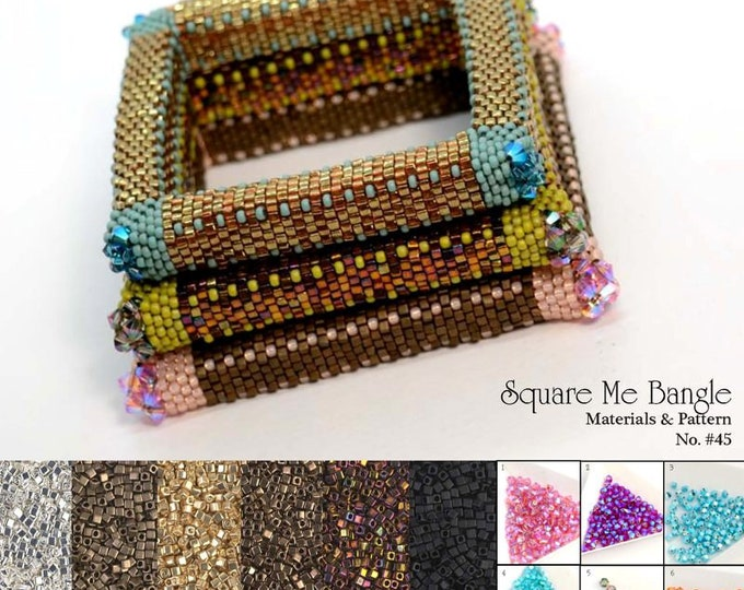 Square Me Bangle beading Kit No. #45