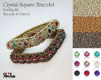 Crystal Square Bracelet beading Kit No. #55