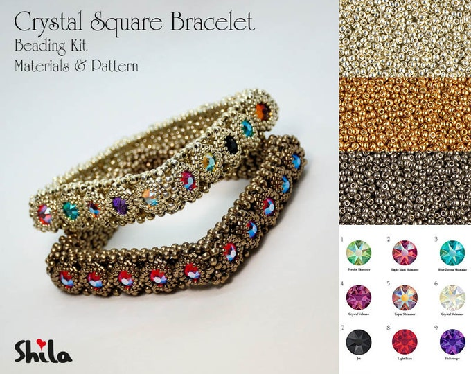 Crystal Square Bangle Beading KIT No. #55