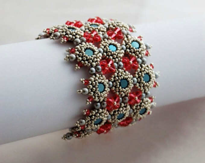 Beaded Jewellery - Confection Cuff Bracelet