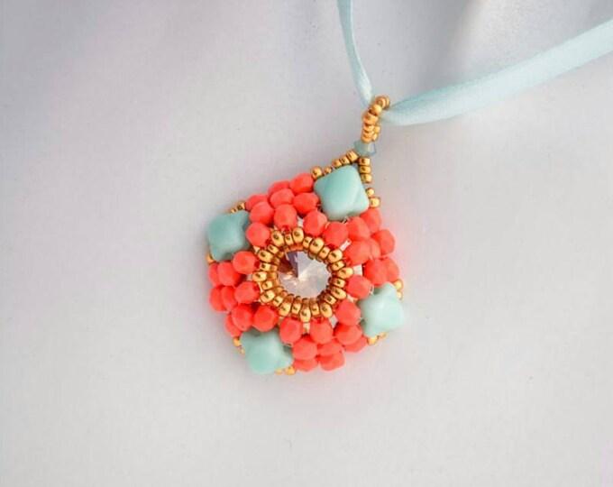Beaded Jewellery - Pendant with Silky beads