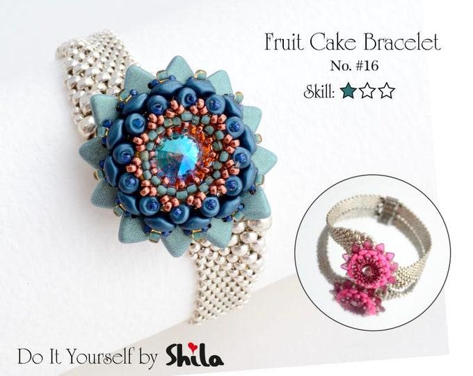 Fruit Cake Bracelet Step by step INSTANT download Pdf beading PATTERN #16
