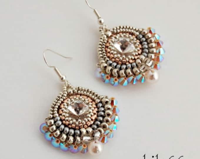 Beaded Jewellery - Enchanted Rivoli Earrings