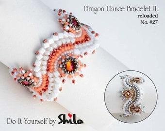 Dragon Dance Reloaded II Step by step INSTANT download Pdf beading PATTERN Bracelet #27
