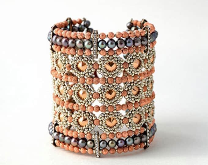 Beaded Jewellery - Totally Rivolis Cuff