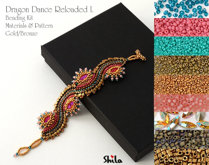 Dragon Dance Reloaded I. Beading Kit No.#18 Gold/Bronze