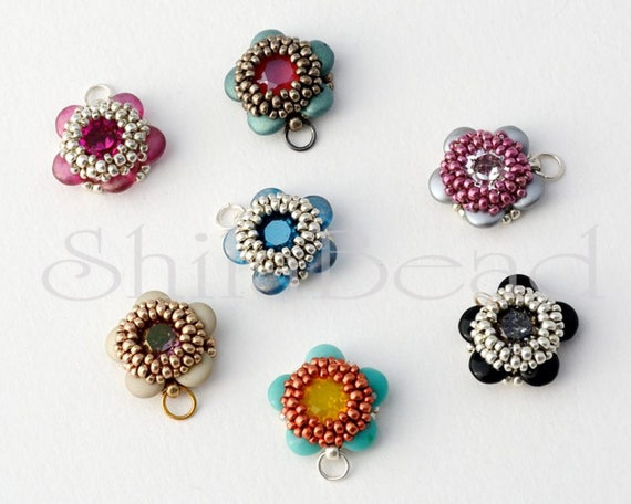 Beading Pattern Tutorial Step by step INSTANT download PDF - Beaded Chips STAR No 39