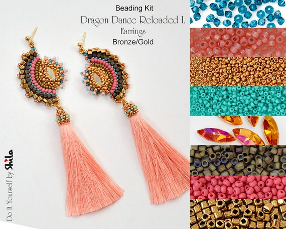 Beading Kit of Dragon Dance Reloaded I. Earrings No 63
