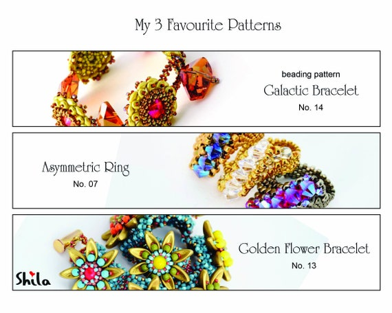 My 3 favourite beading Patterns