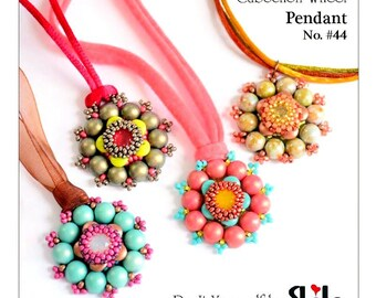 Cabochon Wheel Step by step INSTANT download Pdf beading PATTERN #44