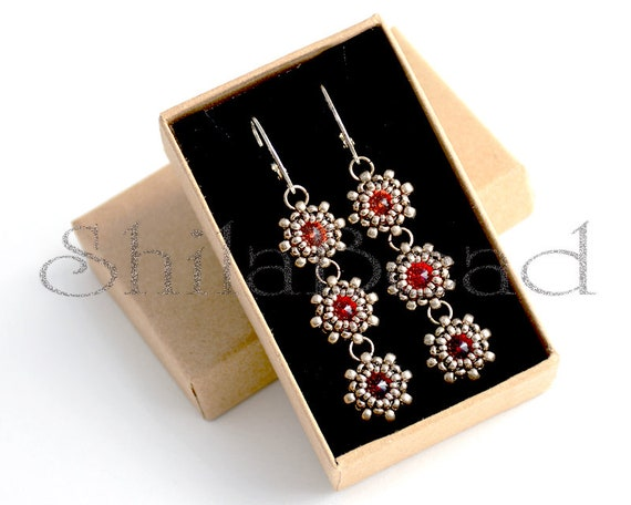 Earrings Step by Step INSTANT download Pdf beading PATTERN #40