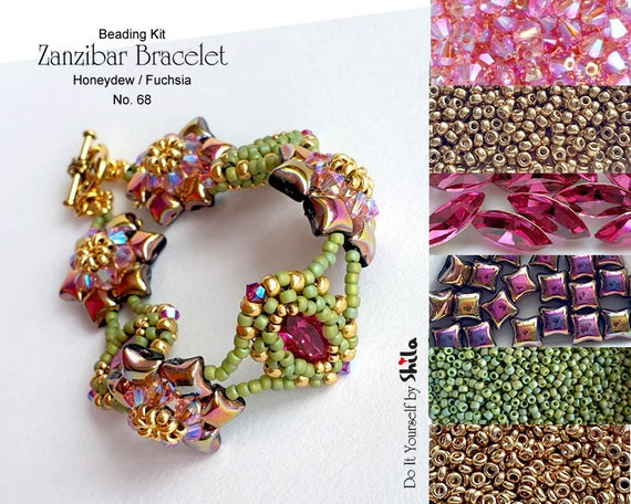 Beading Kit of Zanzibar Bracelet with WibeDuo beads No 68