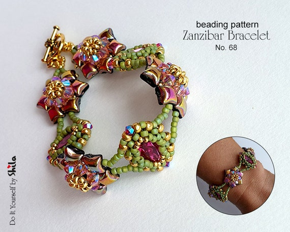Zanzibar Bracelet with WibeDuo beads No 68