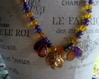 LSU Vintage Beads - Geaux Tigers !