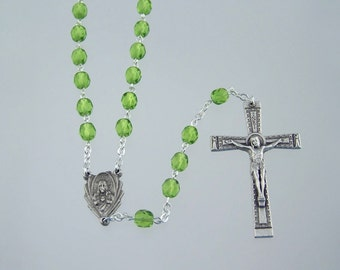August Birthstone Rosary