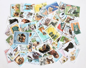 25 to 250 dog cancelled stamps