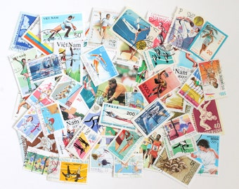 25 to 50 sports theme cancelled stamps