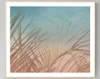 Tropical plant leaves palm leaves wall art pictures pastel coastal beach prints tropical palm art bathroom decor tropical plant wall prints