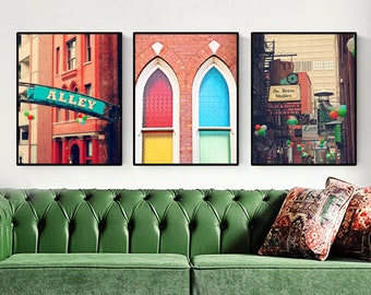 Nashville prints, city art, wall art set of 3, studio apartment art, Nashville art, city signs, gallery wall decor, Nashville wall art
