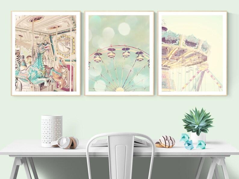 Little Girl Wall Art Photos Set Of 3 Prints Nursery Pastel Etsy