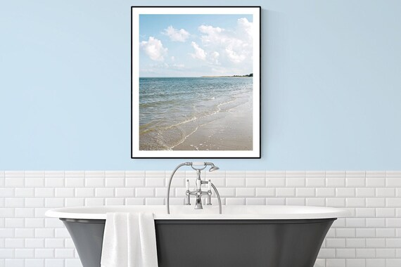 Coastal Bathroom Wall Art Large Coastal Mantle Nautical Wall Etsy