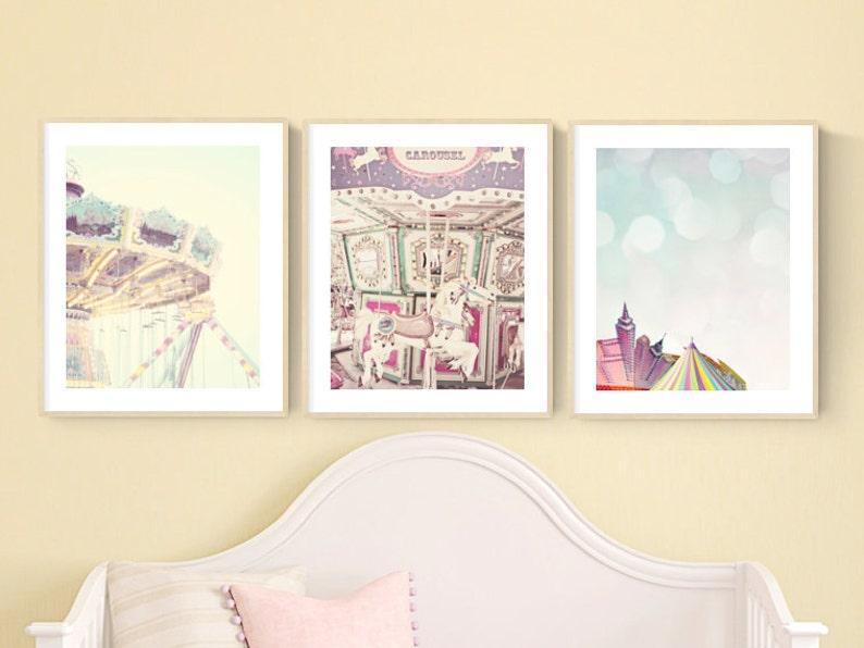 Ensemble art Chambre denfant de 3 de lart mur pastel pour   Etsy
