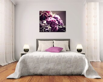 flower photography canvas art large wall art flower canvas art fine art photography hydrangeas canvas art purple wall decor gallery wrap