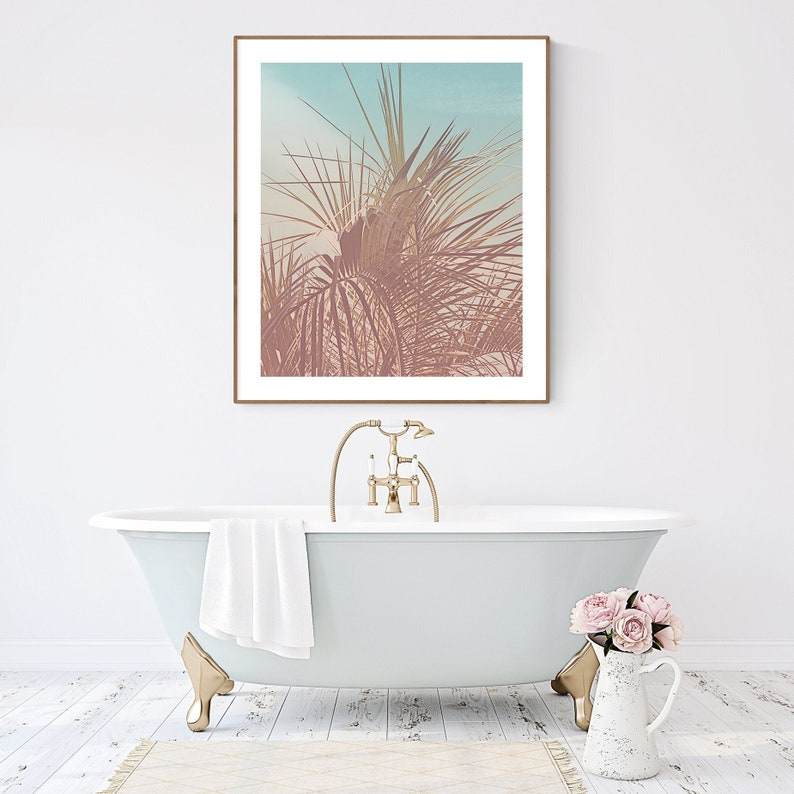 Palm Springs Art Mid Century Modern Wall Art Photography Palm Tree Picture Large Coastal Print Tropical Bedroom Wall Decor Tropical Plant