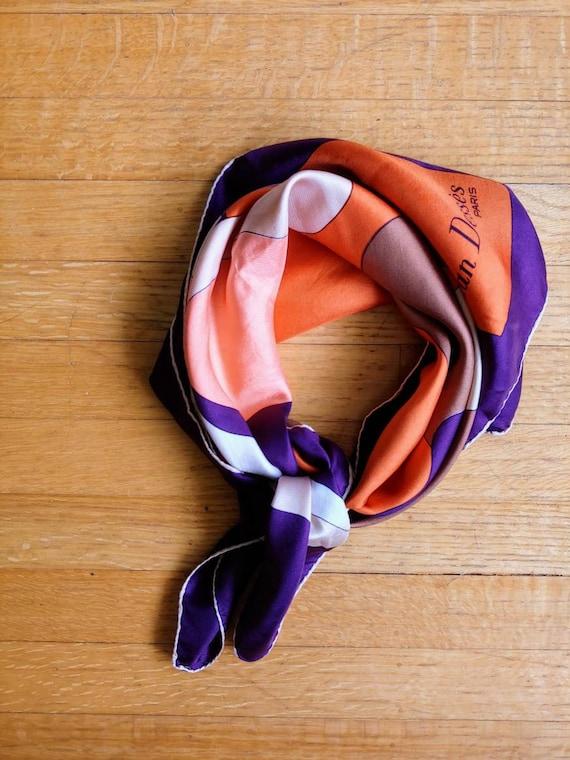 70s Jean Desses Paris art nouveau silk scarf autum