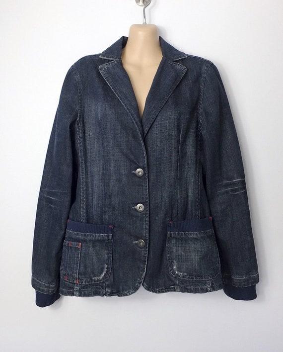 90s Denim Jacket - Dickies indigo blue denim blaze