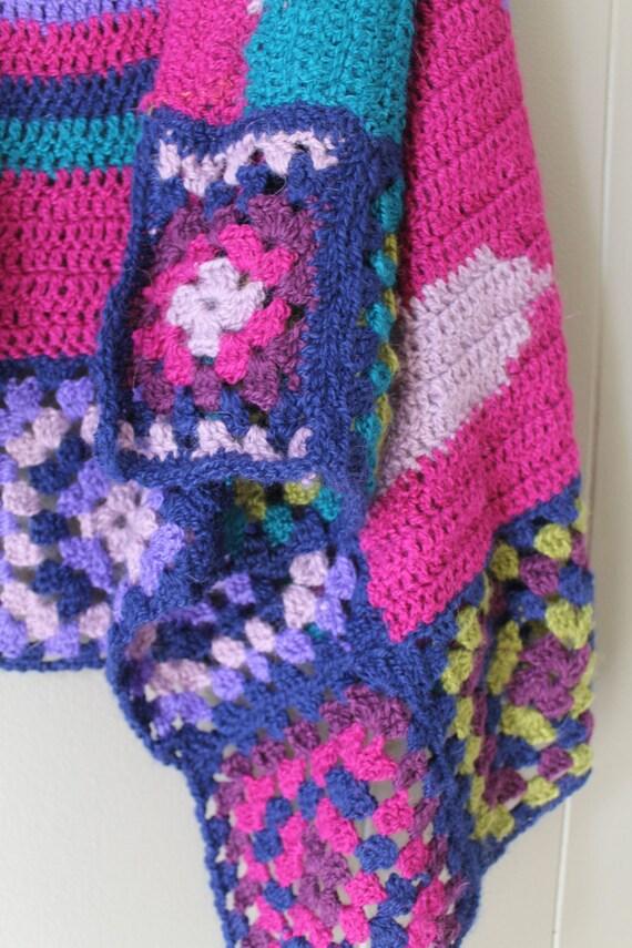 70s Granny Square Vest Crocheted vest handmade Kn… - image 4