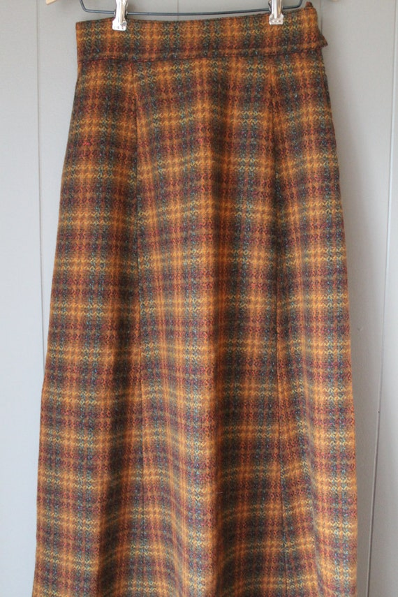 60s 70s Wool Maxi Skirt, Laura Ashley Style Skirt… - image 2