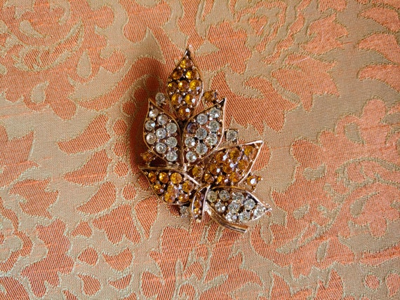 Art Deco Brooch, Art Deco Amber, 40s Amber Brooch,