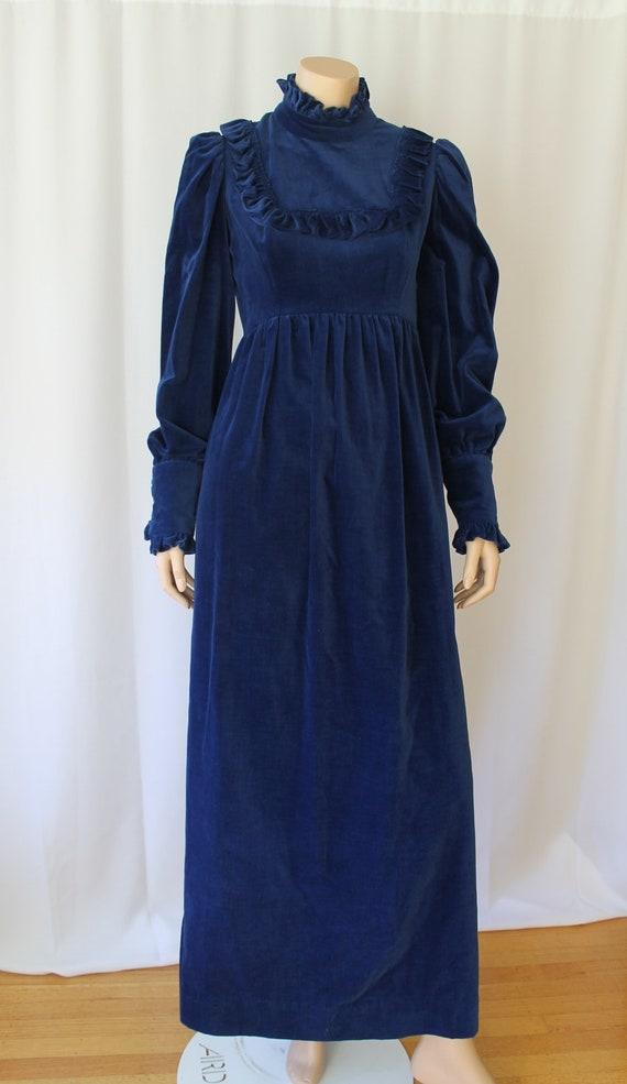 Victorian Blue Velvet Dress / Victorian Dress / Gu