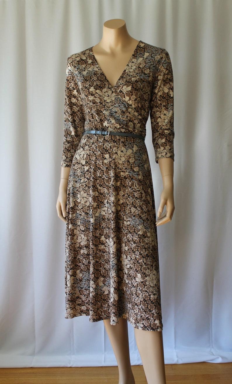4e51397cfe 70s Wrap Dress White Stag Dress Mod Dress Op Art Print