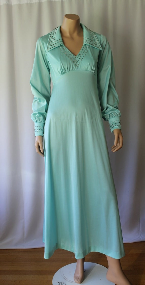 70s Boho Maxi Dress - 70s Empire Maxi Dress - 70s