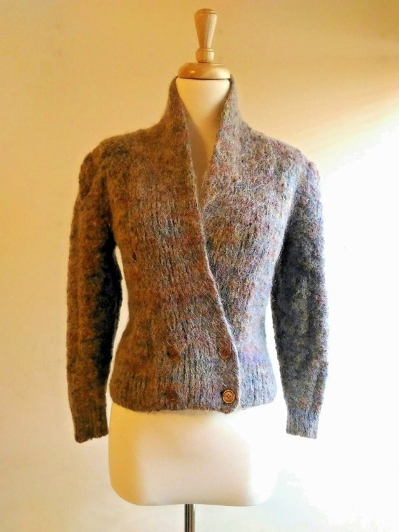 Nordstrom Gallery Mohair Cardigan Sweater Fitted S