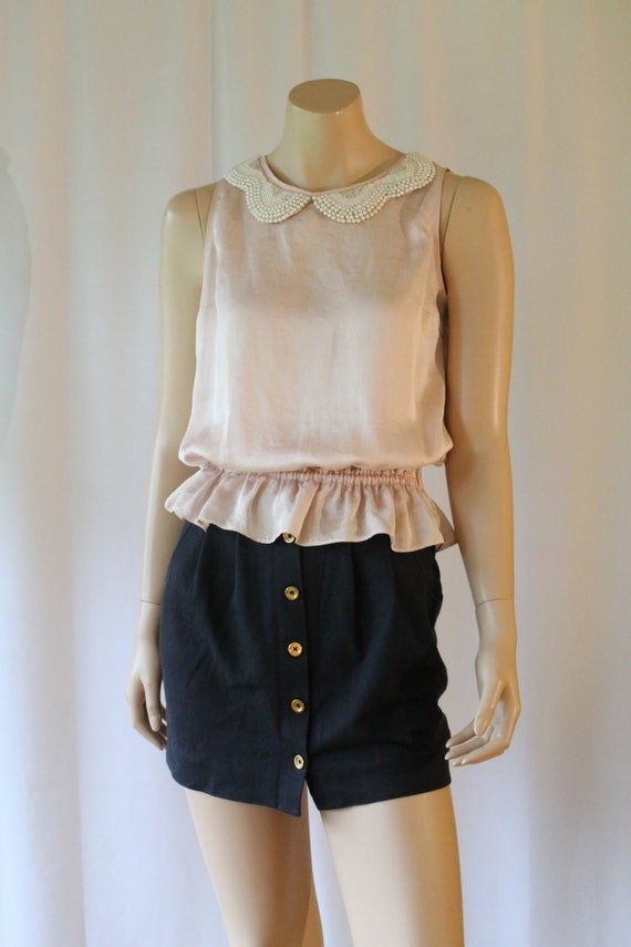 90s Juicy Couture Black Knit Mini Skirt - 26 inch